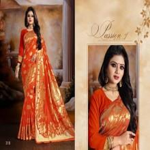 Orange Indian Orginal Patang Silk katan