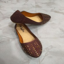 Artificial Leather Made Winter Special Fashionable Maroon Color Flat Loafer Shoes For Women