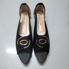 Black Smart Casual Sandal For Women